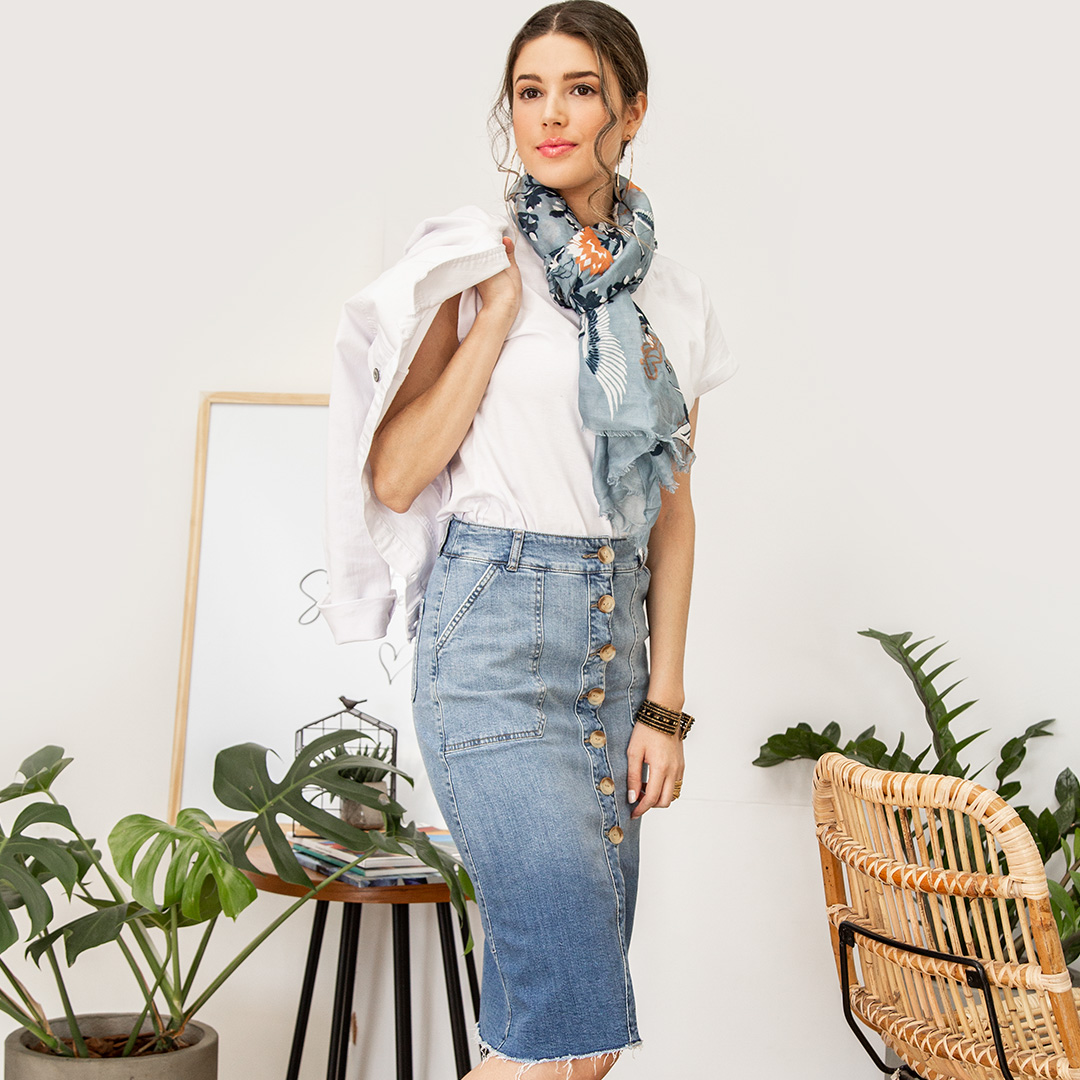 Pollera Jeans Cod. 11903173
